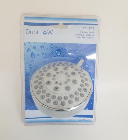 "SHOWER HEAD DURAFLOW 4"" DFSH2-CS 5 FUNCTION"