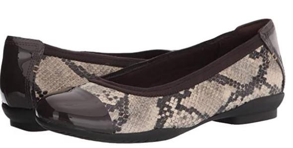 Footwear Clarks Women Sara Orchid Ballet Flat Taupe