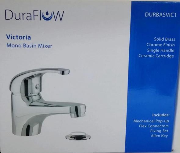 FAUCET DURAFLOW VICTORIA DURBASVIC1 WITH POP UP WASTE