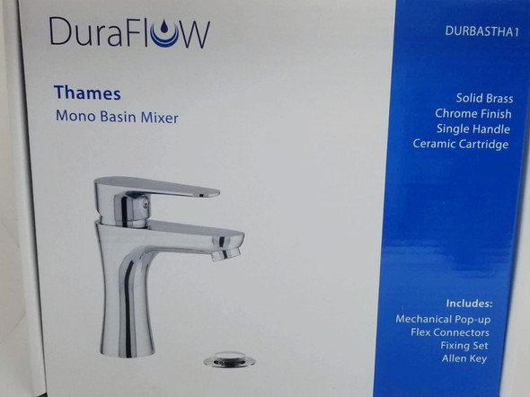 FAUCET DURAFLOW THAMES DURBASTHA1 WITH POP UP WASTE