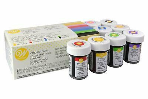 BAKING WILTON ICING 8 COLOR (COLOURS) 8X28.3g 226g 04-0-0030 V1.0