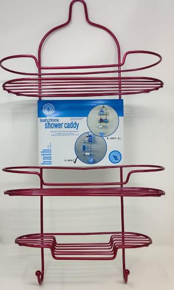 SHOWER CADDY 3 TEIR LUXURY PINK E-0057