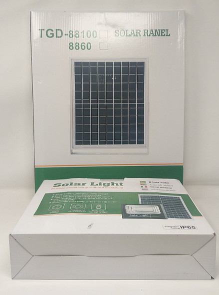 LAMP LED SOLAR FLOOD 200W TGD-88100-8860 WITH SOLAR PANEL