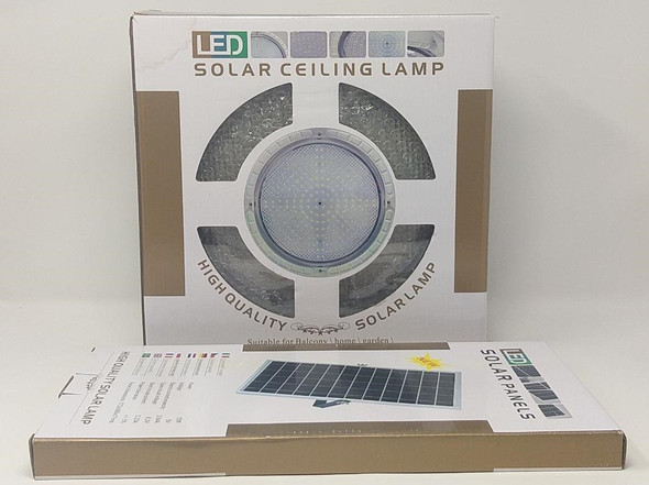 SOLAR CEILING LIGHT 18W LED WITH PANEL ROUND INDOOR