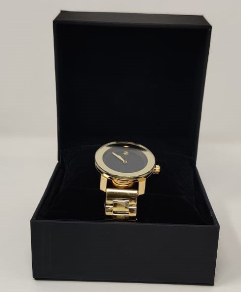 Watch Fashion Generic Women Gold With Metal Strap Broad