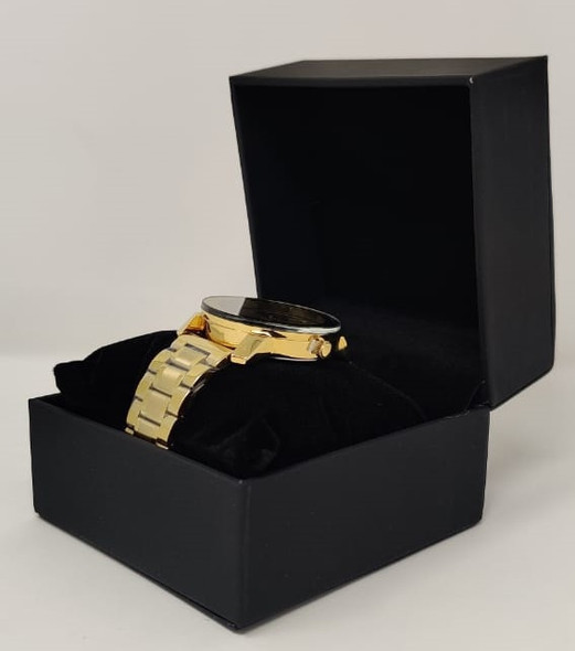 Watch Fashion Generic Men Gold With Metal Strap Broad