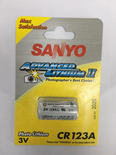 BATTERY G.E/SANYO CR 123A LITHIUM