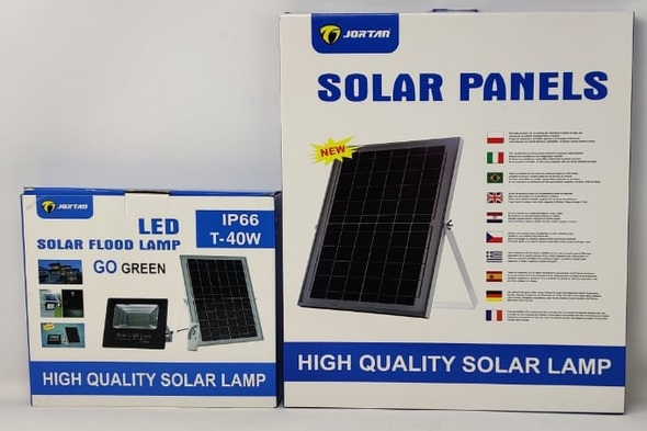 LAMP LED SOLAR FLOOD T-40W JORTAN 6500K IP66