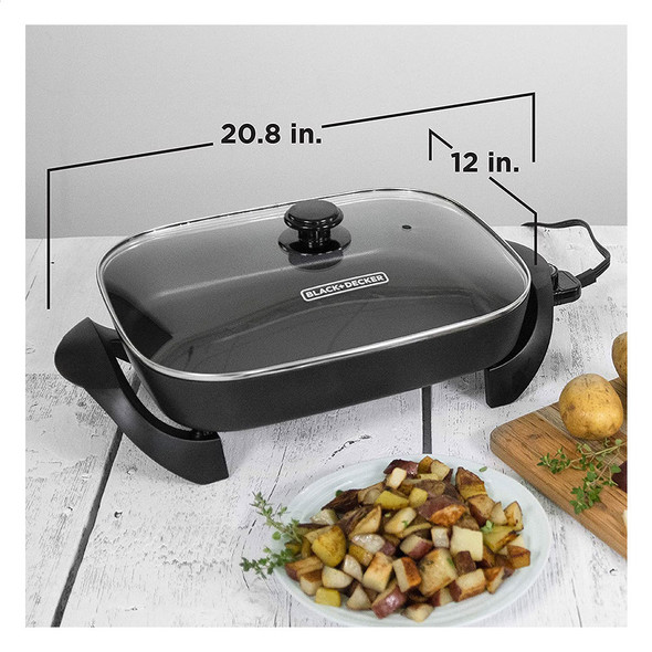 "ELECTRIC SKILLET BLACK & DECKER 12"" SK1212B"