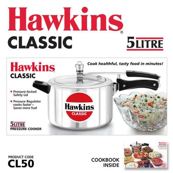 PRESSURE COOKER HAWKINS CLASSIC CL50 5LT
