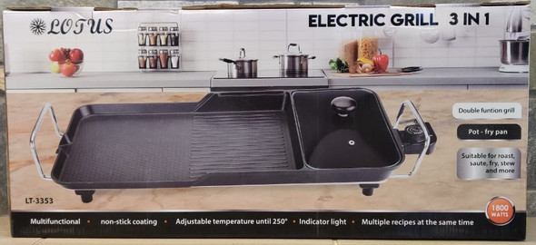 ELECTRIC GRILL LOTUS 3IN1 LT-3353 1800W 110V