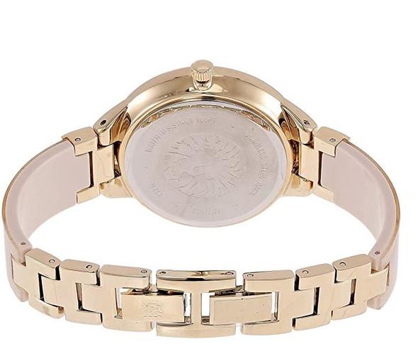 Watch Anne Klein Women's Swarovski Crystal Accented Resin Bangle Cream/Gold AK/1408CRCR