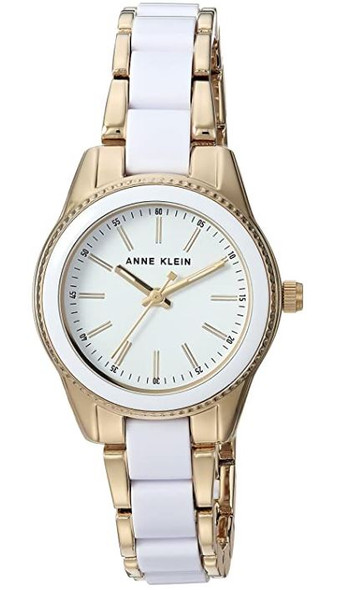 Watch Anne Klein Women's White Resin Bracelet 3212WTGB