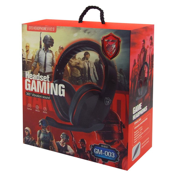 HEADPHONES GM-003 HEADSET GAMING WITH MIC