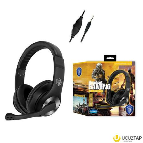HEADPHONES GM-004 HEADSET GAMING WITH MIC