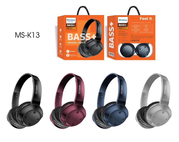 HEADPHONES MS-K13 WIRELESS DEEP BASS BLUETOOTH