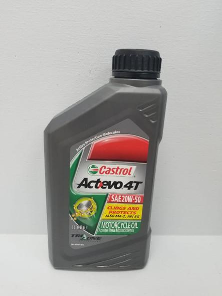 OIL CASTROL ACTEVO 4T SAE 20W50 1 QTS