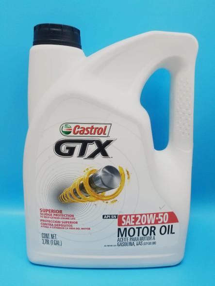 OIL CASTROL GTX SAE 20W50 GAL