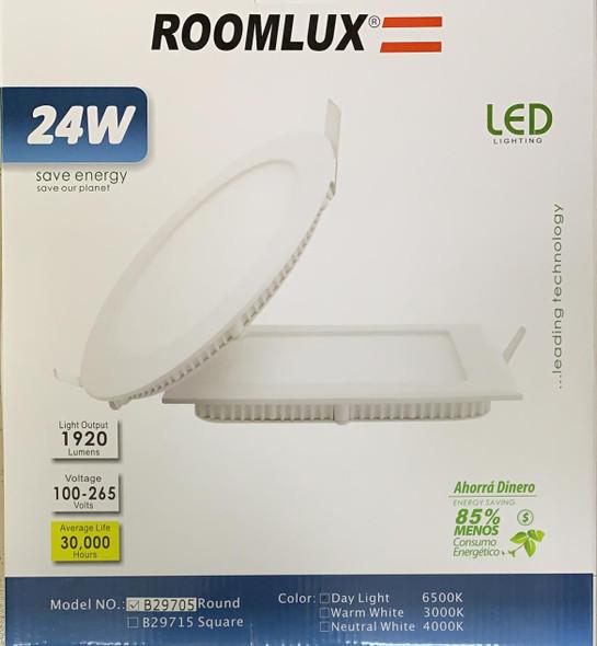 LIGHT LED PANEL ROOMLUX 24W ROUND 6500K B29705