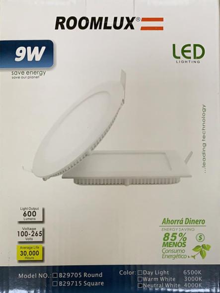 LIGHT LED PANEL ROOMLUX 9W ROUND 4000K B29705