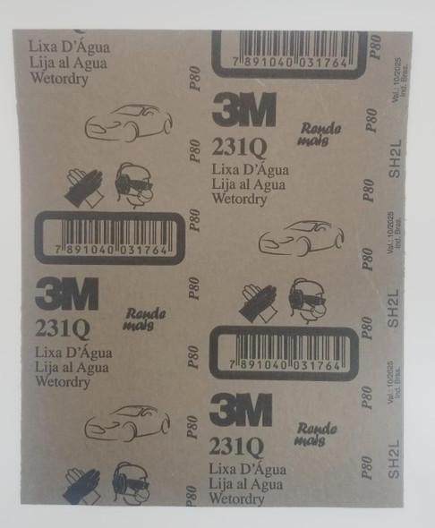 SAND PAPER METAL #80 3M/ALCAR 231Q