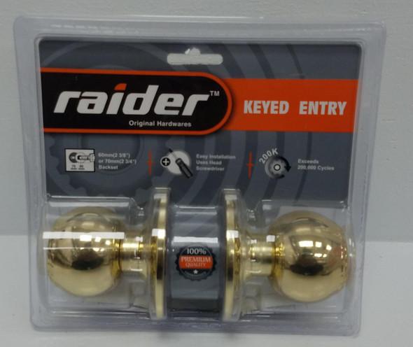 LOCK KNOB RAIDER PB KEYED #3791 PB-ML-ET