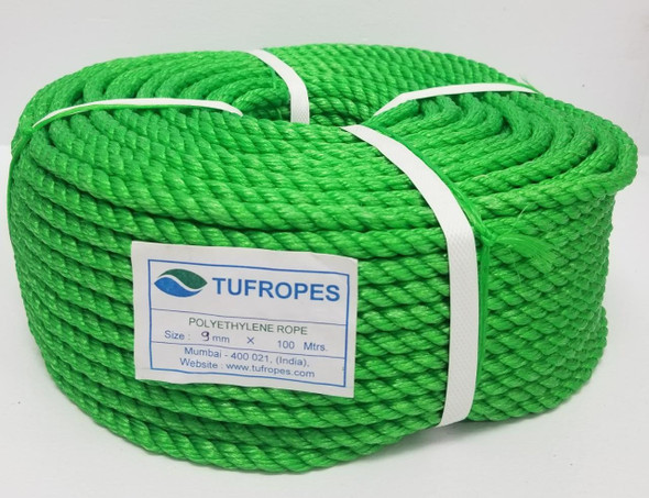 ROPE 9MM TUFROPES 100 MTR ROLL (8LBS)