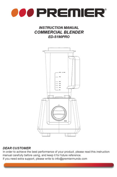 BLENDER PREMIER ED-5190PRO