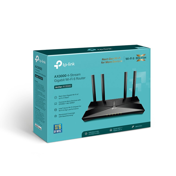 COMPUTER ROUTER TP-LINK ARCHER AX3000 WIFI 6