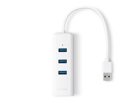 COMPUTER USB 3.0 3 PORT HUB GIGABIT ETHERNET ADAPTOR TP-LINK UE330