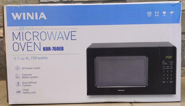 MICROWAVE WINIA 0.7 CF KOR-760EB BLACK 110V