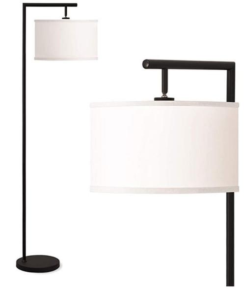 Floor Lamp Addlon Montage Modern Living Room Bedroom  5' Tall Pole Light Overhang  with LED Bulb - Black