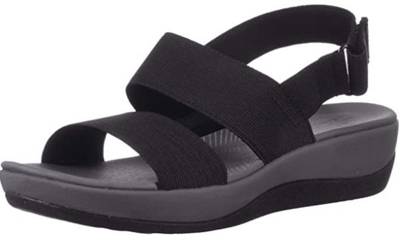 Footwear Clarks Women's Arla Jacory Wedge Sandal Black