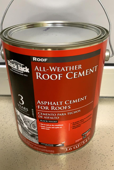 ROOF CEMENT 1 GAL EVER SEAL BLACK JACK
