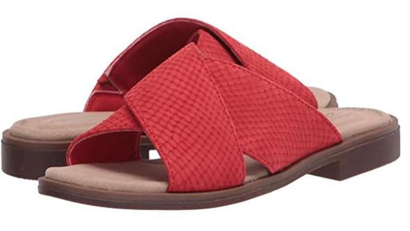 Footwear Clarks Women's Declan Ivy Sandal Red