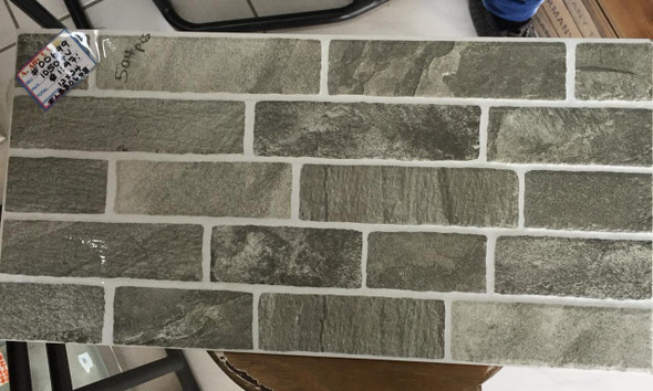 TILE CERAMIC 12X24 #LB30608 GREY & WHITE
