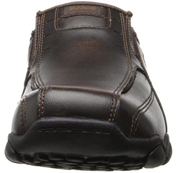 Footwear Skechers USA Men's Diameter-Nerves Slip-On Brown Leather  Loafer
