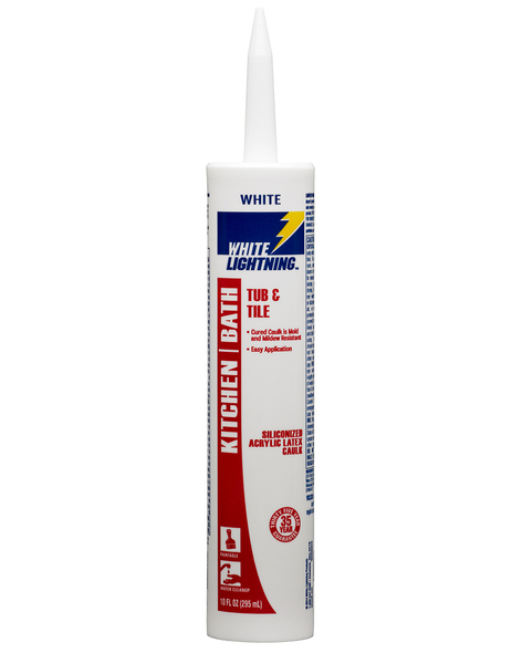 SILICONE WHITE LIGHTNING BATH KITCHEN WHITE 10 OZ