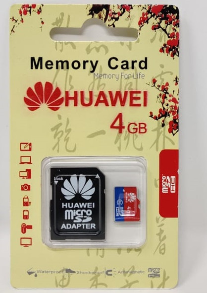 COMPUTER SD MICRO CARD 4GB WITH 1ADPTOR HUAWEI