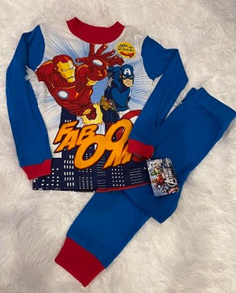 Kids PJ Marvel Boys Avengers Cap n Ironman