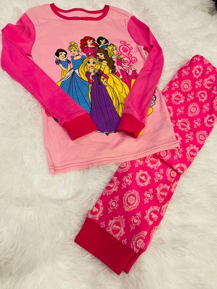 Kids Pj Disney Girls Princess Long sleeve set Pink