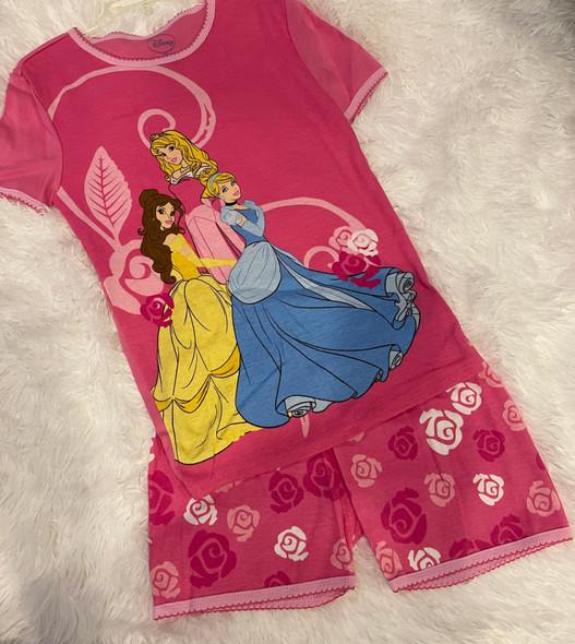 Kids PJ Disney Girls Princess pink shorts set
