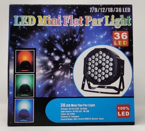 PAR LED LIGHT MINI FLAT 36 LED