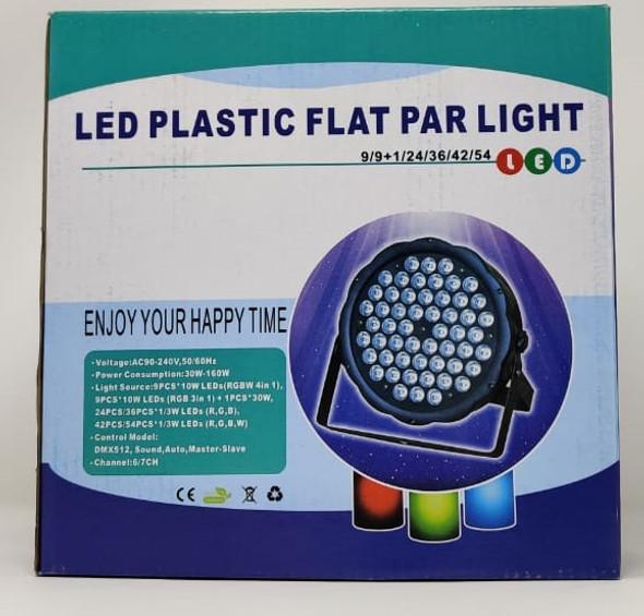PAR LED LIGHT MINI FLAT 54 LED PLASTIC
