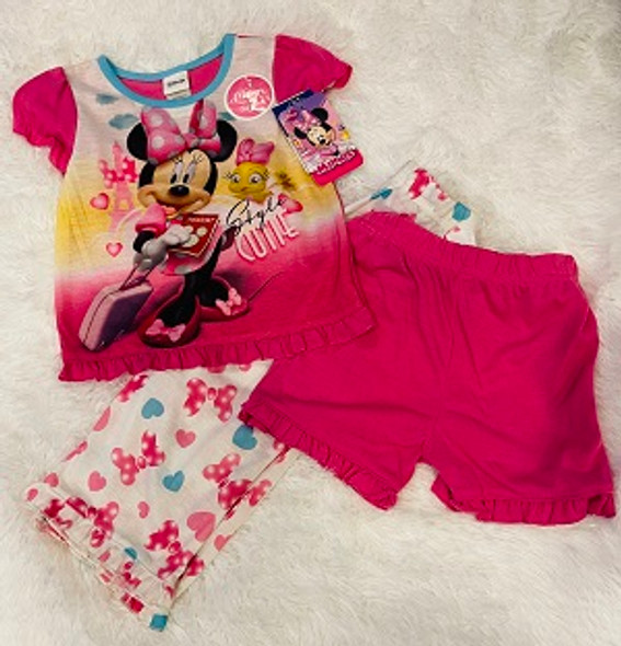 Kids PJ Disney Girls Minnie Mouse 3pc set