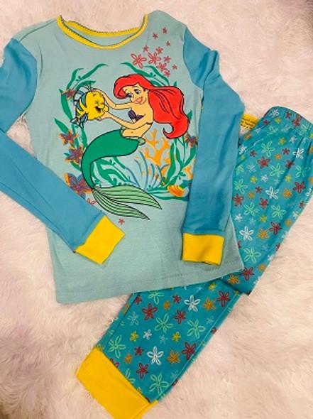 Kids PJ Disney Girls Little Mermaid long sleeve