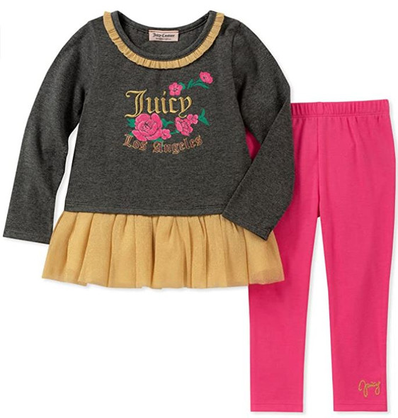 Kids 2pc set Juicy Couture long sleeve