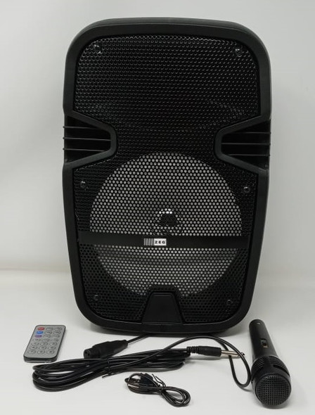 """SPEAKER BOX ZEG 8"""" ZEG-8008 BT (POWERED) ACTIVE RECHARGEABLE"""