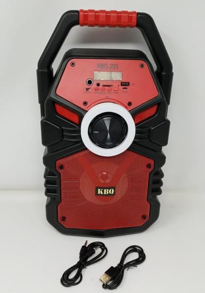 SPEAKER BOX KBQ KBQ-203 BT (POWERED) ACTIVE RECHARGEABLE