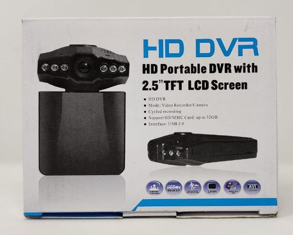 """CAR DVR HD PORTABLE WITH 2.5"""" TFT LCD SCREEN WITH BATTERY"""